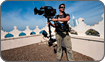 Using Steadicam on roof tops for BBC 'Human Planet' in Dubai