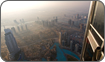 View of Dubai Skyline from the tallest building in the world, Burj Khalifa.