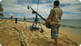 Mark MacEwen, Filming Lemon Sharks using a Jimi Jib, Great Barrier Reef