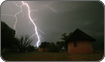Electrical storm on location in South Africa