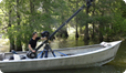 Filming scenics Lake Martin, Louisiana. For Wild Horizons North America