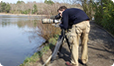 Filming great crested grebes for The One Show