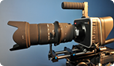Blackmagic Cinema Camera with a 50-500mm lens