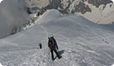 On location in the Mont Blanc Massif